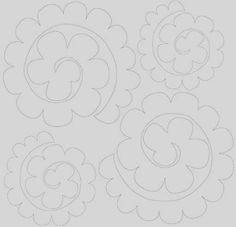 molde das flores de feltro: