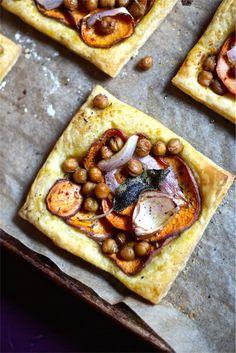 Simple Sweet Potato & Sage Tarts - vegan, dairy-free