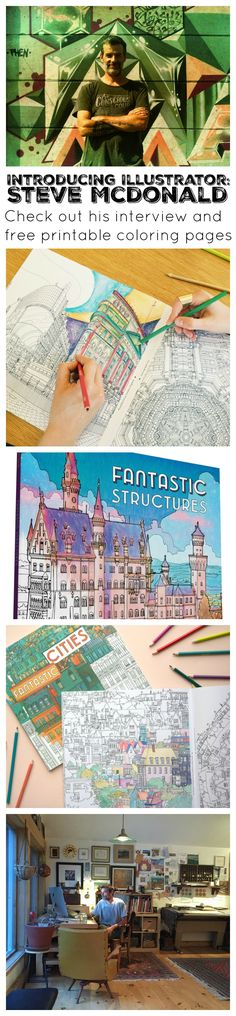 A Visit With Illustrator Steve McDonald | National Adult Coloring Book Day | Free Printables