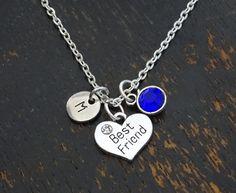 Best Friend Necklace Best Friend Jewelry Best Friend Charm PERSONALIZED