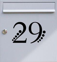 Hausnummer zweistellig 02 - Briefkastentattoo - Wunschzahl, Wunschfarbe - von Design Out Of Norm