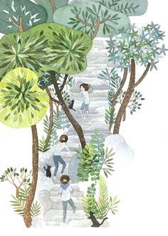 186번째 이미지 Contemporary Artwork, Watercolor Art, Art For Kids, Sculptures, Illustration Styles, Illustrations, Drawings, Nature, Artsy Pics
