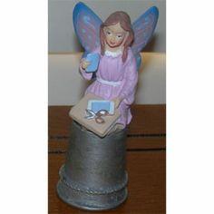 dedal de recuerdo, EE.UU., estaño, porcelana, las hadas y los ángeles de la Serie - 3 de hadas Thimble Figurines Artesanía Mujeres Hadas