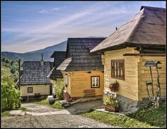 Vlkolinec | country cottages medieval mansion with original wooden architecture mountain and foothill areas with intact buildings timbered houses | UNESCO World Heritage Site