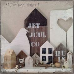 Houten huisjes. Door Jet&Juul&Co