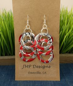 Diet Coke Circle Earrings  DOUBLEsided Recycled Soda by jillmccp, $9.95