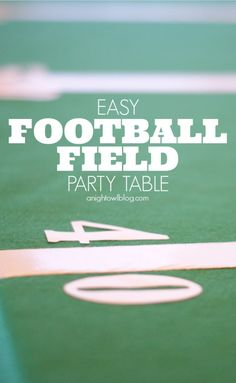 DIY Projects for the Sports Fan - Easy Football Field Party Table - Crafts and DIY Ideas for Men - Football, Baseball, Basketball, Soccer and Golf - Wall Art, DIY Gifts, Easy Gift Ideas, Room and Home Decor http://diyjoy.com/diy-ideas-sports-fan