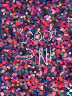 1,000TH PIN!!!!!!!! YAY!!!!!!! THANK YOU TO ALL OF MY FOLLOWERS WHO GAVE ME THE MOTIVATION TO PIN ALL OF THESE PINS!!!!!!!!!! IT MEANS A LOT!!!!!
