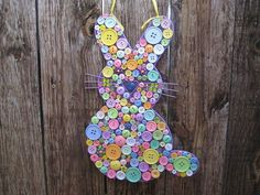 Button Easter Bunny $55 -- This is so cute!