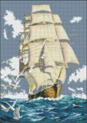 "Картина мозаикой ""Парусник"" 40 х 50 см, арт. А097"