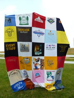 Making a T-Shirt Quilt | Thorough directions for putting the shirts together correctly.