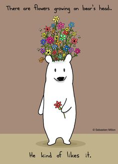 Flower Bear - Sebastien Millon / Art & Illustration