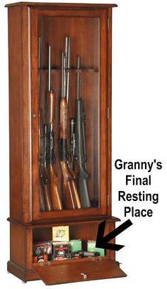 Gun cabinet   John Lazelle Woodworking   Pinterest   Gun cabinets ...