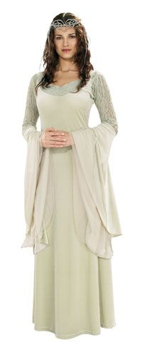 Deluxe Arwen Dress & Tiara - Authentic Lord of the Rings Costumes    $31.32