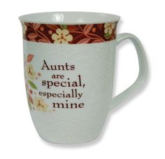 "CLASSIC COLLECTION MUG - AUNT ""Aunts are special, especially mine."""