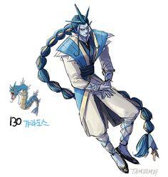 Gyarados Strength - A+ Endurance - B Mobility - B+ Aura - A Magic - C  Moves: Dragon Dance, Aqua Tail, Outrage, Bounce
