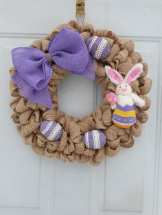 Easter Wreath Easter decor Easter Bunny by ChloesCraftCloset