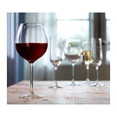 IKEA - HEDERLIG, Rödvinsglas, Extra stor kupa som förstärker aromen.Glasets stora runda kupa gör att vinets dofter och smaker utvecklas bättre, så att din upplevelse av drycken blir starkare.