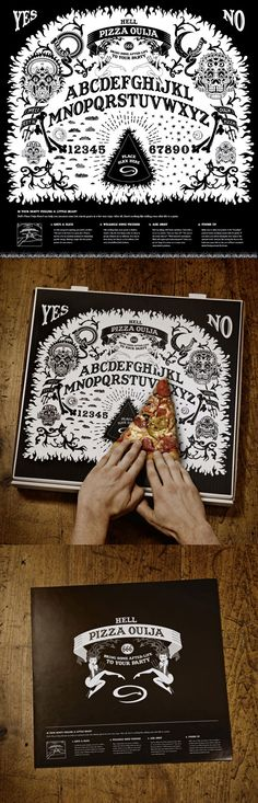 Pizza Box as Ouija board... creepy but cool!