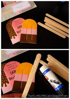 invitation & free printables from http://www.eatdrinkchic.com/post.cfm/diy-paper-popsicle-memory-game