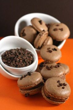 Whisk Kid: Reeses Revamped - {Chocolate and Peanut Butter Macarons}