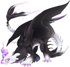 Nightlight OC by Spearmark on DeviantArt Httyd Dragons, Cool Dragons, Dragon Games, Dragon 2, Mythical Creatures Art, Fantasy Creatures, Disney Drawings, Cute Drawings, Night Fury Dragon