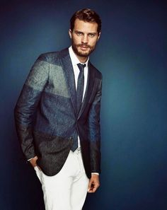 Jamie Dornan for Telegraph Magazine | Tom & Lorenzo Fabulous & Opinionated // this blazer is seriously the bees knees. would be tricky to pull off, though.