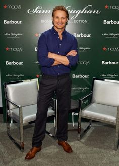 Outlander's Sam Heughan at Barbour's Sam Heughan Signature Collection launch in NYC on September 28, 2017