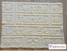Twinkle Twinkle Little Star Baby Blanket Crochet Pattern. Note: This is for the Crochet Pattern only not the finished item. How to Crochet Videos. 4.50mm Crochet Hook. 315g - Stylecraft Special Babies DK yarn - Baby Lemon # 1233 - 8 Ply (approx 980 yards). | eBay!