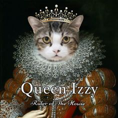 ❤️ Cat Pet Portraits. Design it online for your pet Queen.  ❤️  Upload photo ❤️  Edit the text ❤️  Comes Framed - no extra expense Queen Pictures, Let It Out, Old Paintings, Period Costumes, Unusual Gifts, Tile Art, Beautiful Artwork, Pet Portraits, Ceramic Art
