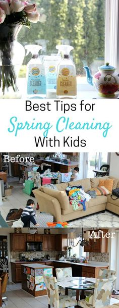 Best Tips for Spring Cleaning with Kids - Simply Every  Kids chores, chores, chores for kids, spring cleaning, cleaning, home, clean house, clean home, house routine, cleaning routines