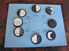 Learning about the moon, including the phases of the moon with cookies!