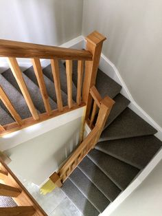 Oak double winder featuring a return balustrade, a stunning staircase