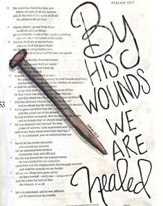 By Hs Wounds We Are Healed