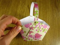 Make your own easter basket card ideas pinterest easter these little paper baskets would be perfect for easter cupcakes negle Choice Image