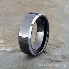 Tungsten Wedding Band Men Tungsten Wedding Ring Black