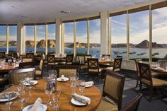 You might not think of Arizona when you think of waterfront dining, but The Rainbow Room offers some tasty food with incredible views of Lake Powell. Sedona Hotels, Lakeside Restaurant, Page Arizona, Lake Havasu City, Lake City, Pleasant View, Arizona Travel, Arizona Trip, Rainbow Room