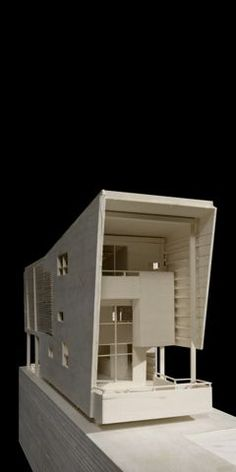 "The winning entry to the New Orleans Prototype Housing competition, ""The Porch House,"" was submitted by architecture senior Amin Gilani and architecture alumnus Josh Spoerl. Maquette Architecture, Conceptual Architecture, Space Architecture, Architecture Drawings, Tyni House, 3d Modelle, Building Concept, Arch Model, Box Houses"