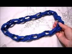 Collana catena all'uncinetto - YouTube