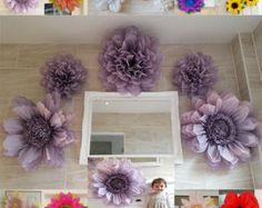 Pompom Set 5x Giant Tissue paper flowers  Wedding Venue Decorations Centerpiece Birthday colours available