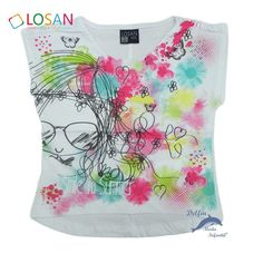 Camiseta de niña LOSAN manga corta tipo top