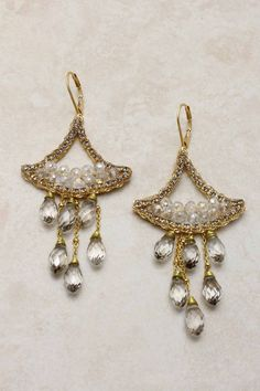 Crystal Toccara Chandelier Earrings on Emma Stine Limited