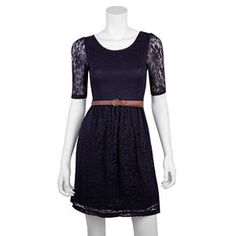 821ec872fc3 IZ Byer California dresses at Kohl s - This juniors  dress features a lace  overlay and a belt. Shop our entire selection of dresses at Kohl s.