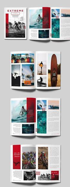 InDesign Sports Magazine Template #magazine #brochure #template #brochuretemplate #brochuredesign #layout #layoutdesign #editorial #indesign #templates #sports