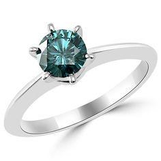 Diamantring verlobung blau  0.25 Karat blauer Diamant Ring aus 585er Weißgold. Ein Diamantring ...