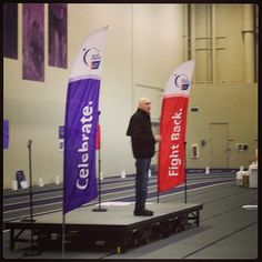 """""""There is something magical and therapeutic about having everyone who's been touched by cancer come together"""" -Dr. Gordy Klatt  UST Relay For Life 2013"""