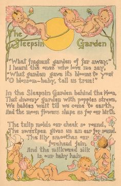 These are two lovely pages from a vintage baby book. The pages are full of precious baby graphics and an adorable poem. (via themagicfarawayttree)