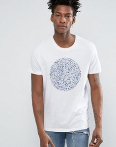 Selected Homme Indigo T-Shirt with Print