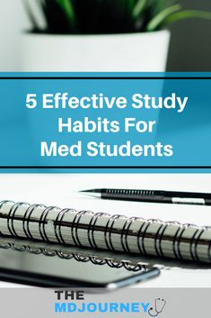 5 Effective Study Habits of Medical Students - TheMDJourney - - Want to improve your studying in medical school? Check out the top study habits of medical students and learn the best study methods to use as a medical student. Med Student, Pharmacy School, Medical School, Best Study Methods, School Stress, School Study Tips, School Tips, School Motivation, Study Habits