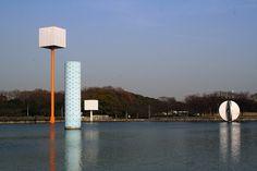 Floating Fountains by Isamu Noguchi for Expo '70 — Osaka, Japan